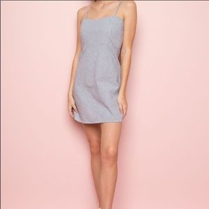 Brandy Melville blue and white striped dress